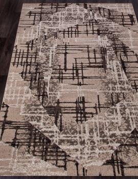 Ковер D708 - BEIGE-BROWN 2 - Прямоугольник - коллекция SIERRA