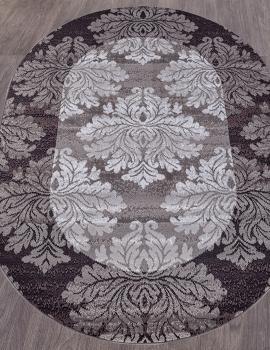 Ковер D213 - GRAY-PURPLE - Овал - коллекция SILVER