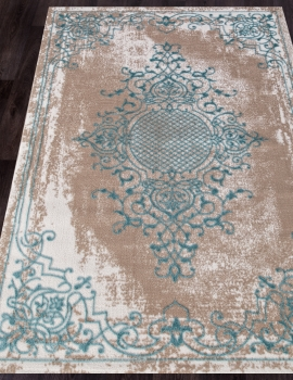 Ковер Q5521 - 031 BLUE - Прямоугольник - коллекция STYLE