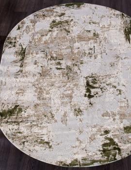 Ковер 15456A - CREAM / L.GREEN - Овал - коллекция TOKIO
