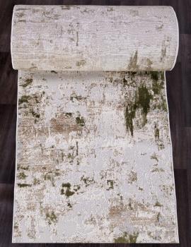 Ковровая дорожка 15456A - CREAM / L.GREEN - коллекция TOKIO