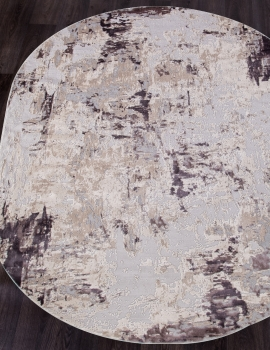 Ковер 15456B - BEIGE / PINK - Овал - коллекция TOKIO