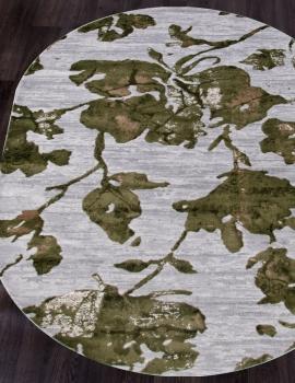 Ковер 17974A - GREY / L.GREEN - Овал - коллекция TOKIO