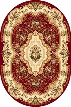 Ковер d017 - RED - Овал - коллекция VALENCIA