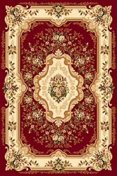 Ковер d017 - RED - Прямоугольник - коллекция VALENCIA