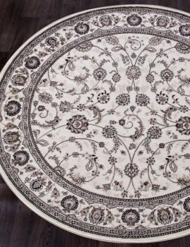Ковер d251 - CREAM-BROWN - Круг - коллекция VALENCIA DELUXE