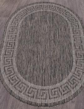 Ковер S002 - DARK GRAY - Овал - коллекция VEGAS