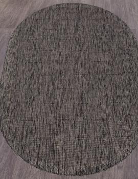 Ковер S008 - D.GRAY-BLACK - Овал - коллекция VEGAS