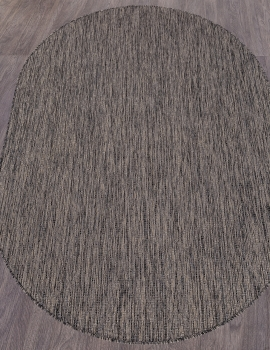 Ковер S115 - DARK GRAY - Овал - коллекция VEGAS