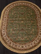 Ковер 5471 - GREEN - Овал - коллекция BUHARA