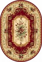 Ковер 5245 - RED - Овал - коллекция DA VINCI