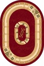 Ковер 5263 - RED - Овал - коллекция DA VINCI