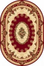 Ковер 5440 - RED - Овал - коллекция DA VINCI