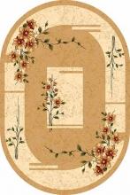 Ковер d024 - BEIGE - Овал - коллекция DA VINCI