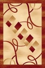 Ковер d054 - BEIGE-RED - Прямоугольник - коллекция DA VINCI