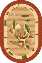 Ковер d091 - TERRA - Овал - коллекция DA VINCI