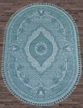 Ковер 07931 - BLUE / BLUE - Овал - коллекция HUNKAR