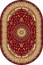 Ковер d027 - RED - Овал - коллекция IZMIR