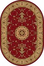 Ковер d034 - RED - Овал - коллекция IZMIR