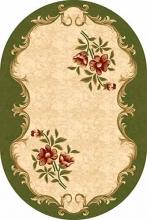 Ковер 5277 - GREEN - Овал - коллекция KAMEA
