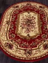 Ковер 5439 - RED - Овал - коллекция LAGUNA