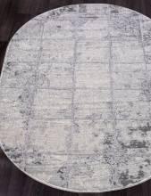Ковер 1301A - COKEN D.GREY / K.GREY - Овал - коллекция MARDAN