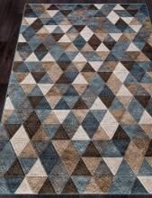 Ковер D578 - BEIGE-BLUE - Прямоугольник - коллекция MATRIX
