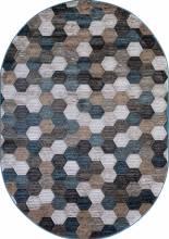 Ковер D579 - BEIGE-BLUE - Овал - коллекция MATRIX - фото 2