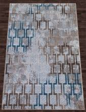 Ковер D591 - CREAM-BLUE - Прямоугольник - коллекция MATRIX