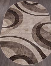 Ковер 4783 - BEIGE - Овал - коллекция MEGA CARVING