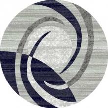 Ковер d264 - GRAY - Круг - коллекция MEGA CARVING