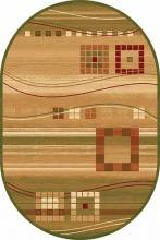 Ковер d080 - GREEN - Овал - коллекция MILAN