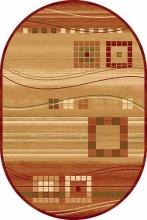 Ковер d080 - RED - Овал - коллекция MILAN