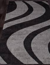 Ковер t617 - GRAY-BLACK - Прямоугольник - коллекция PLATINUM