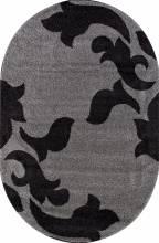 Ковер t620 - GRAY-BLACK - Овал - коллекция PLATINUM - фото 2