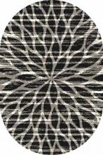Ковер t626 - BLACK-GRAY - Овал - коллекция PLATINUM