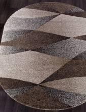 Ковер t636 - BEIGE - Овал - коллекция PLATINUM