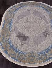 Ковер 33031 - 030 BLUE - Овал - коллекция QATAR