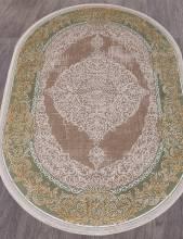 Ковер 33031 - 040 GREEN - Овал - коллекция QATAR