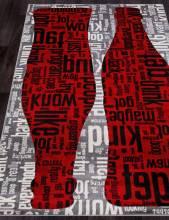 Ковер C081 - GRAY-RED - Прямоугольник - коллекция RIO