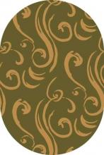 Ковер V857 - GREEN-BEIGE - Овал - коллекция RIVIERA