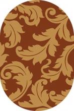 Ковер v861 - TERRA-BEIGE - Овал - коллекция RIVIERA