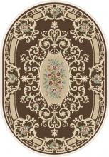 Ковер D701 - BROWN - Овал - коллекция ROXY