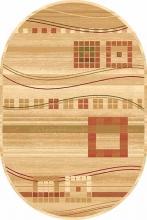 Ковер d080 - CREAM - Овал - коллекция SAN REMO