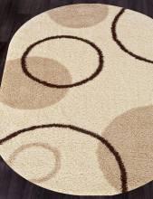 Ковер s610 - CREAM - Овал - коллекция SHAGGY ULTRA