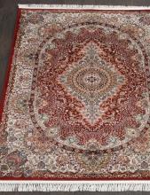 Ковер d414 - RED - Прямоугольник - коллекция SHAHREZA