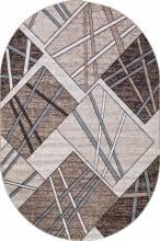 Ковер D487 - BEIGE-BROWN - Овал - коллекция SIERRA - фото 2