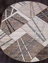 Ковер D487 - BEIGE-BROWN - Овал - коллекция SIERRA