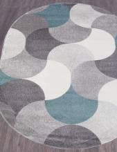 Ковер 2257 - LIGHT GRAY - Овал - коллекция SOFIT