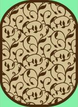Ковер sz1110a2o - 11 - Овал - коллекция Циновка
